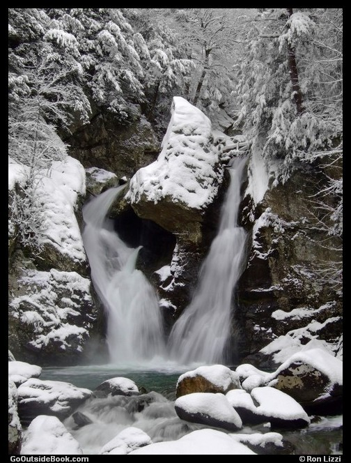Bash Bish Falls with snow