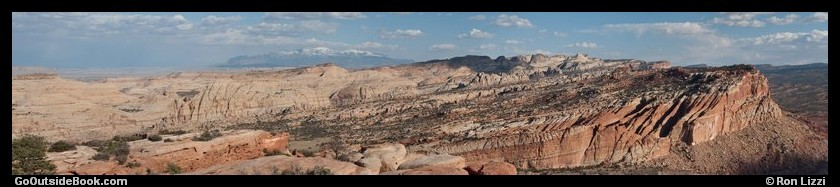 Panorama from Rim Overlook - Capitol Reef National Park