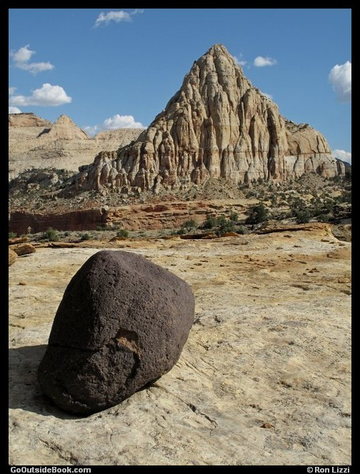 Pectols Pyramid and Lava Rock - Capitol Reef National Park