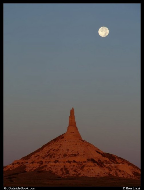 Chimney Rock and moon