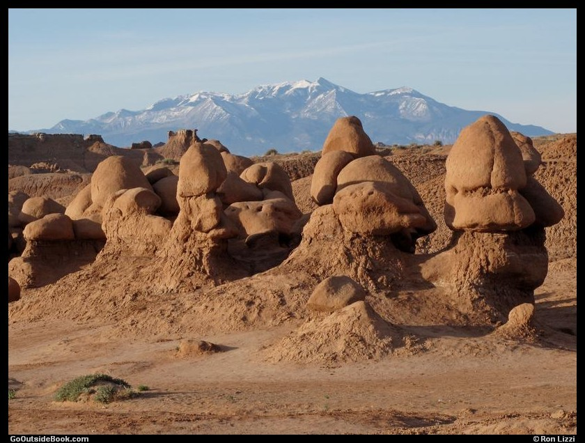 Goblin Valley - Goblins and the Henry Mountains