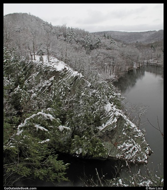 Lovers Leap, Connecticut, with Snow