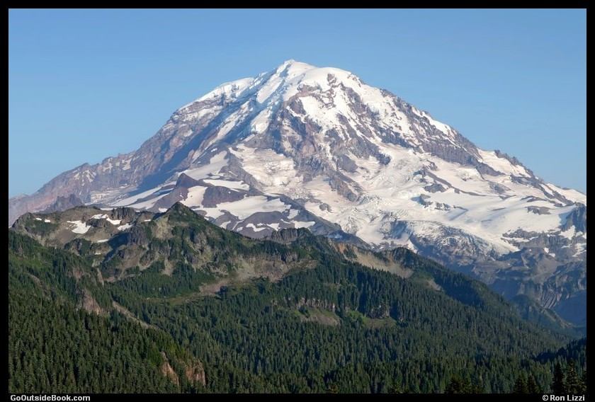 Mount Rainier viewed from Tolmie Peak - Mount Rainier National Park, Washington