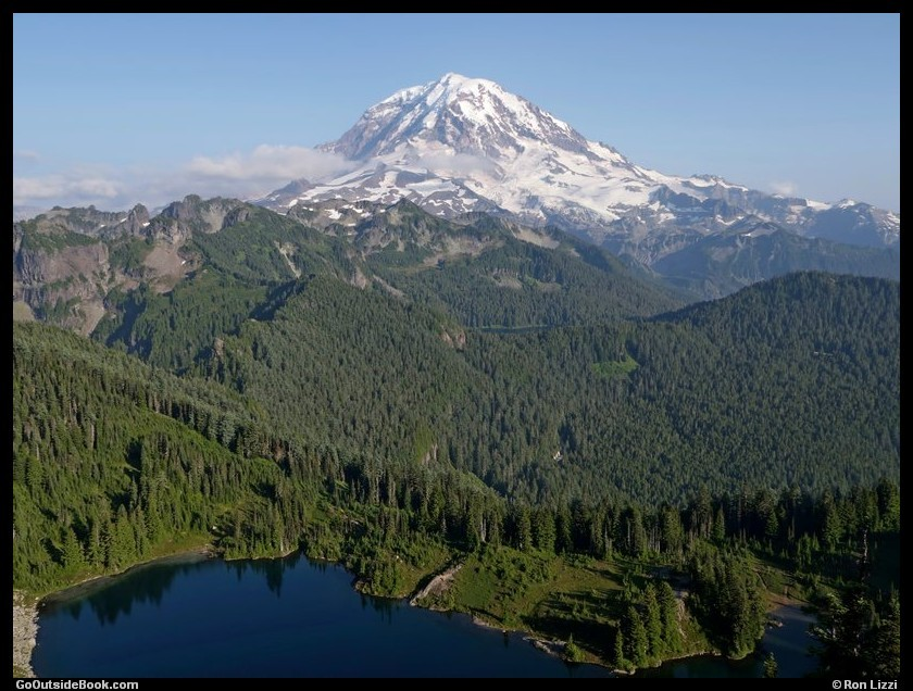 Mount Rainier and Eunice Lake viewed from Tolmie Peak - Mount Rainier National Park, Washington