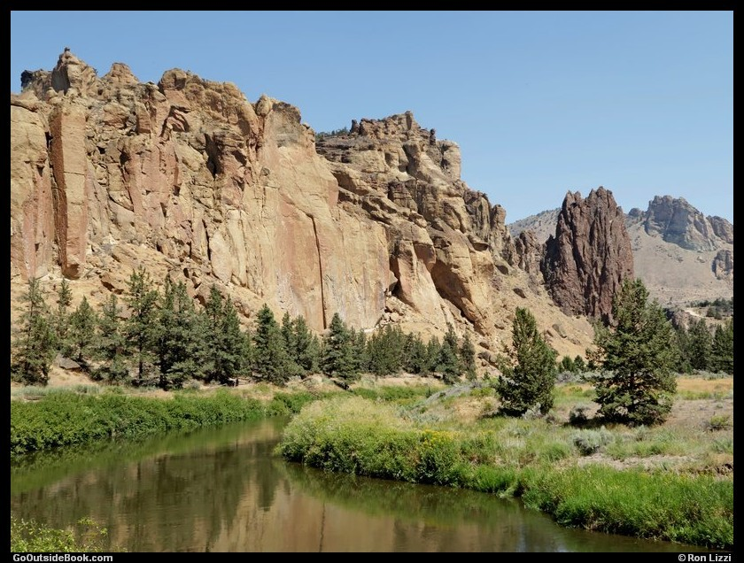 Morning Glory Wall and Crooked River - Smith Rock State Park, Oregon