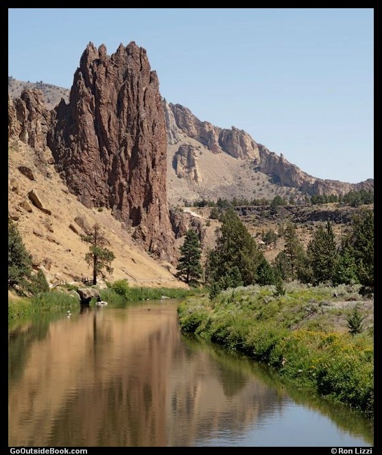 Tower and Crooked River - Smith Rock State Park, Oregon
