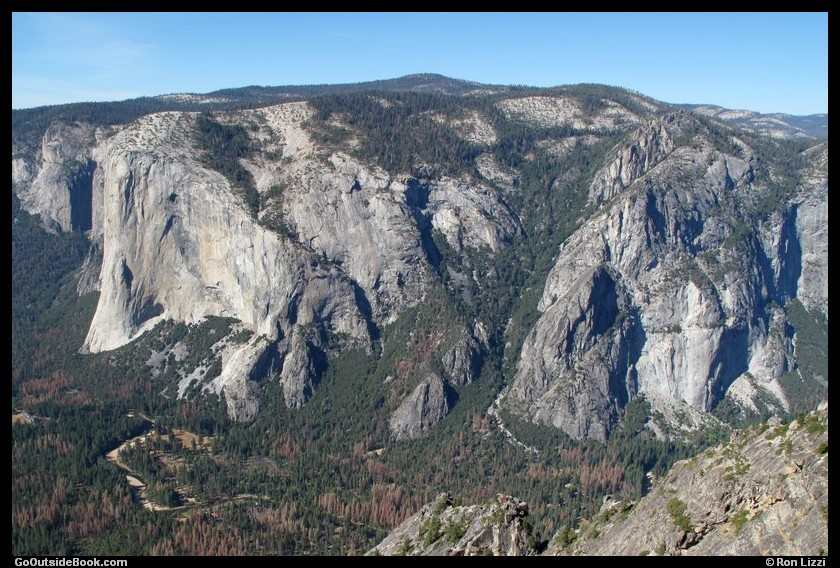 El Capitan and Three Brothers viewed from Taft Point, Yosemite National Park, California