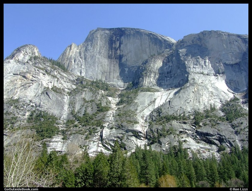 Half Dome viewed from Mirror Lake Trail, Yosemite National Park, California