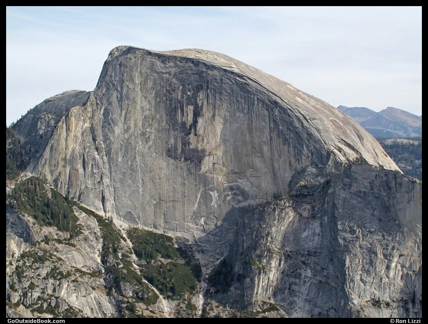 Half Dome viewed from North Dome, Yosemite National Park, California