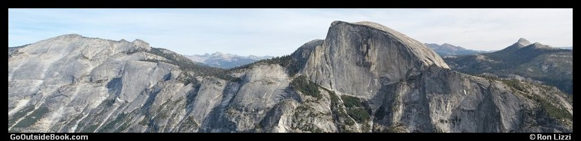Panorama from North Dome, Yosemite National Park, California