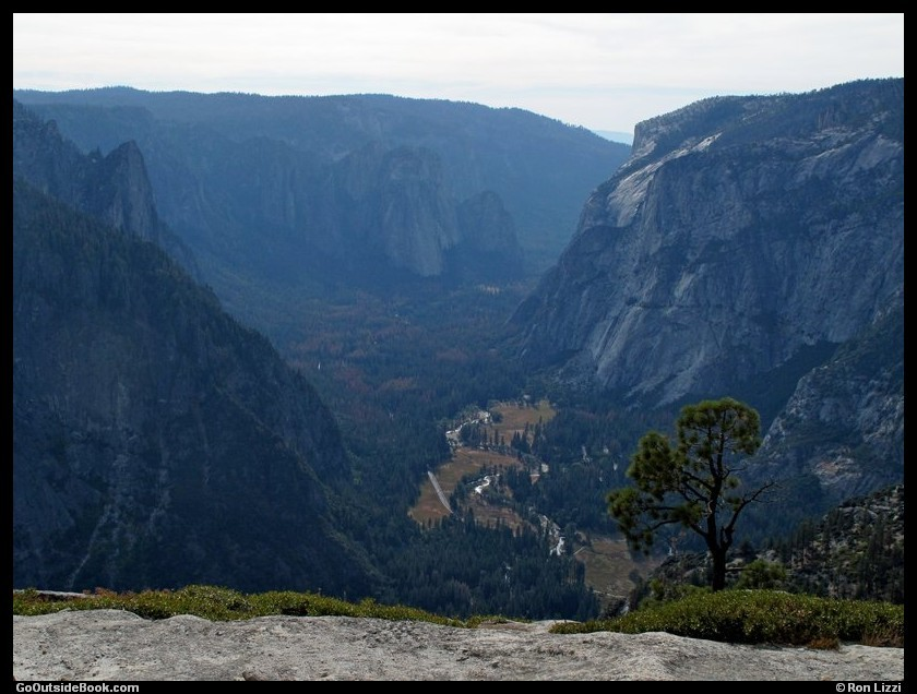 Yosemite Valley viewed from North Dome, Yosemite National Park, California